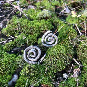 •Spiral• ezüst fülbevaló