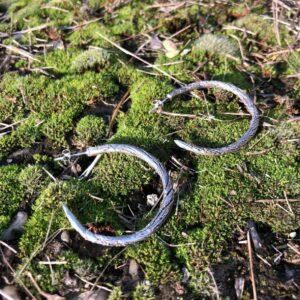 •Loop•ezüst fülbevaló