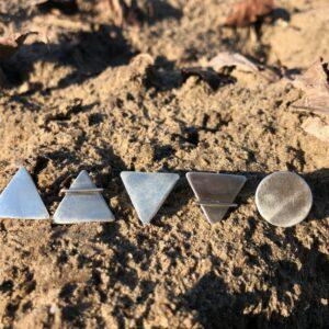 Öt elem fülbevaló • Ezüst