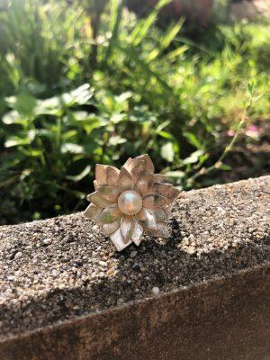 'Vénusz' gyűrű fehér gyönggyel
